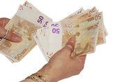 ユーロでの支払い — ストック写真