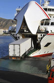 Truck and ferry — Stock Photo
