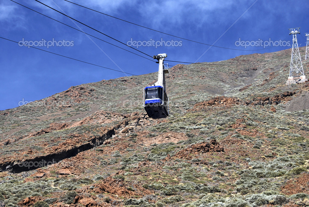 Cablecar in the mountain. Transport for tourist — Stock Photo #6433128