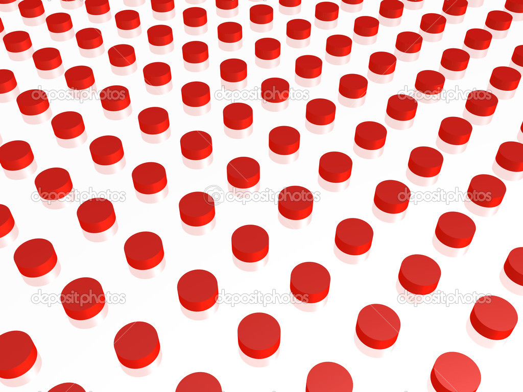 Abstract background with red cylinders. 3d render  Stock Photo #6433385