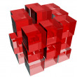 Cubes in red — Stock Photo