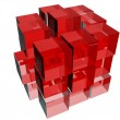 Cubes in red — Stock Photo #6456306
