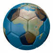 Soccer map of the world - Stock Photo