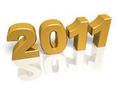 Golden New year — Stock Photo