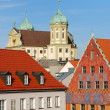 Augsburg city house — Stock Photo