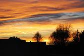 Village during sunset — Stock Photo