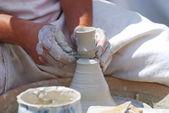 Making pottery — Stock Photo