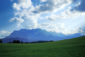 Evening in the alps — Stock Photo