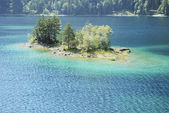 Eibsee Island — Stock Photo
