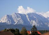 Villaggio alpino — Foto Stock