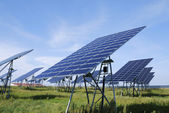 Green solar energy — Stock Photo