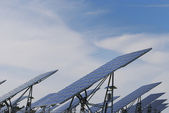 Solar panel field — Stock Photo
