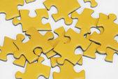 Yellow puzzle — Stock Photo