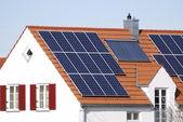 House with regenerative energy system — Stock Photo