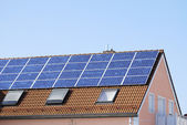 House roof with solar panels — Stock Photo