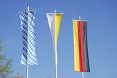 Three flags — Stock Photo