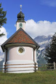 Chapel in the alps — Stock Photo