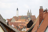 Roofs of Rothenburg — Stock Photo