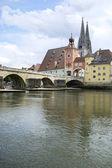 Danube in Regensburg — Stock Photo