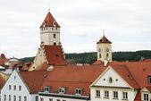 Regensburg towers — Stock Photo