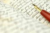 Oude dagboek — Stockfoto