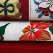 Fabrics with Christmas Patterns — Stock Photo #6399585