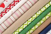 Tessuti colorati — Foto Stock
