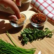 Cooking with Spices - Stock Photo