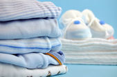 Blue Baby Clothes — Stock Photo