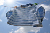 Drying Baby Sweater — Stock Photo