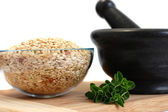 Bio Rice with Herbs — Stock Photo