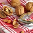 Stock Photo: Walnuts and Nutcracker