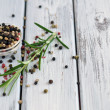 Stock Photo: Peppercorn and Rosemary