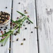Peppercorn and Rosemary — Stock Photo
