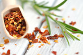 Rosemary and Crushed Chilli Pepper — Stock Photo