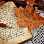 Autumn Diary — Stock Photo