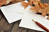 Writing a Letter — Stock Photo