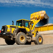 Stock Photo: Bulldozer working