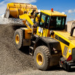 Bulldozer working — Stock Photo