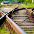 Railroad turnout - Stockfoto