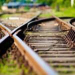 Railroad turnout — Stock Photo