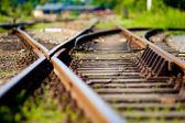Spoorweg opkomst — Stockfoto
