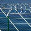Solar power station security — Stock Photo