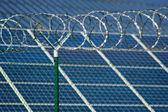 Solar power station security — Stock Photo