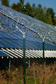 Solar power station security — Foto Stock