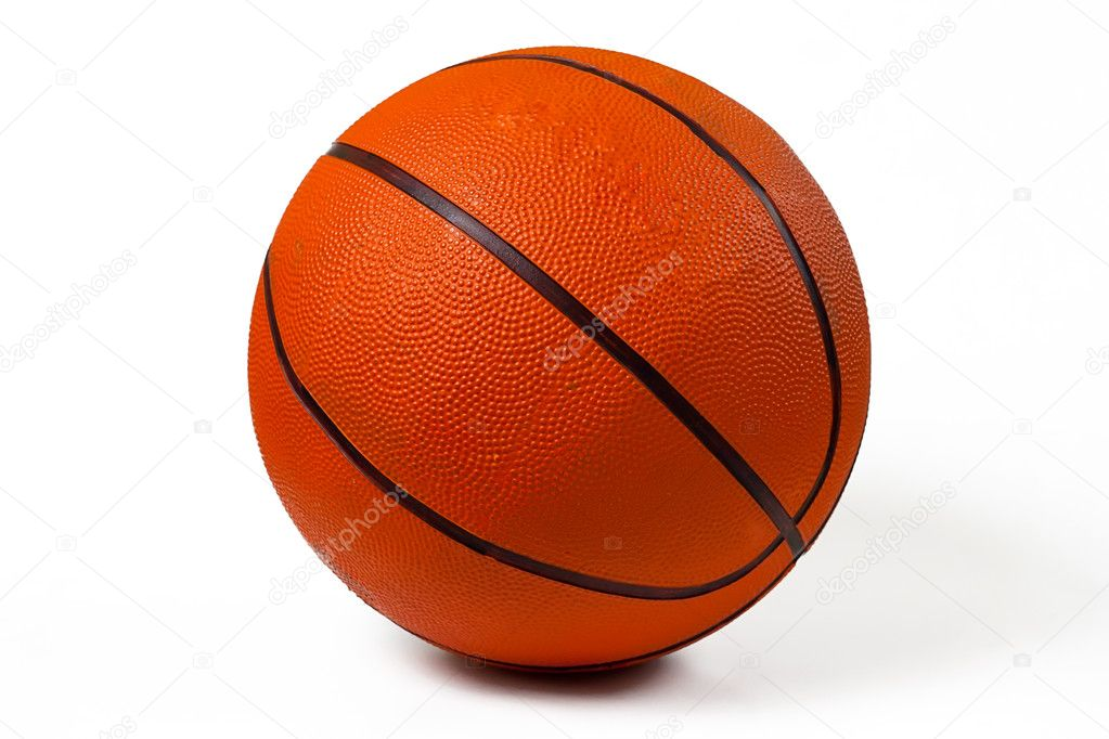 Used basketball isolated on white background  Stock Photo #6462620