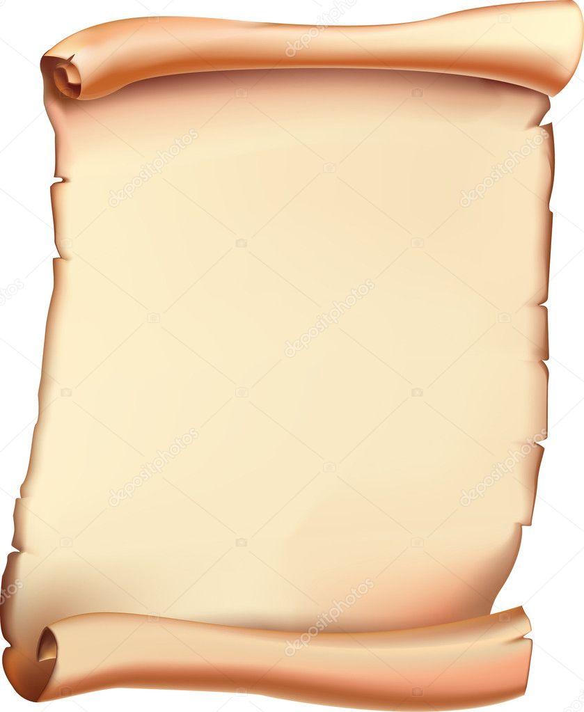 Ancient Scroll: Stock Vector © Lilitenochek #6378194
