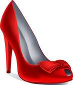 Vector red shoe — Stock Vector