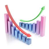 Business chart 3d — Stock Photo
