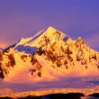 Stock Photo: Beautiful snow-capped mountains